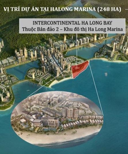 Vị trí dự án intercontinental residences halong bay