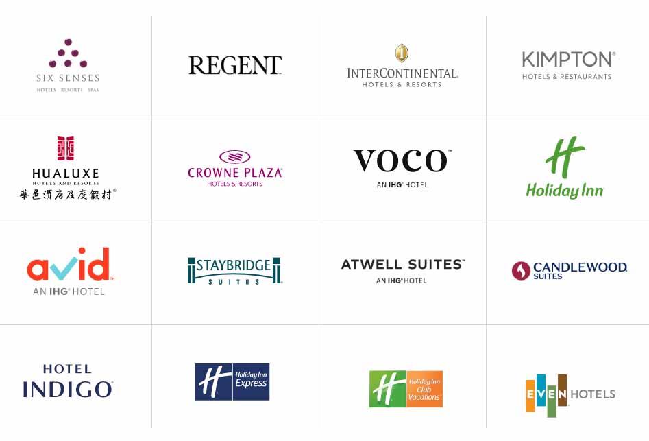 thương hiệu của tập đoàn InterContinental Hotels Group (IHG)